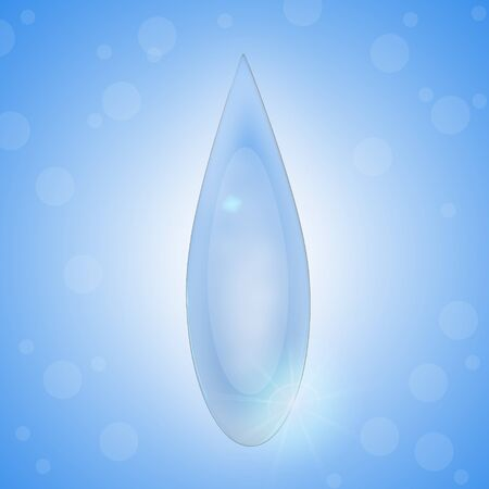 pearls and threads: water drop isolate with light blue background