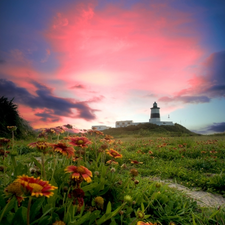 illuminative: Lighthouse with nice view for adv or others purpose use
