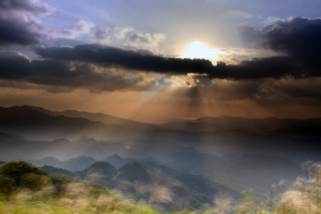 Fifth Mountain Sunrise, the new Taipei, Taiwan for adv or others purpose use photo