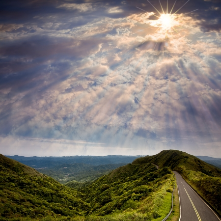 cast off: Way to beautiful placeWay to beautiful place for adv or others purpose use Stock Photo