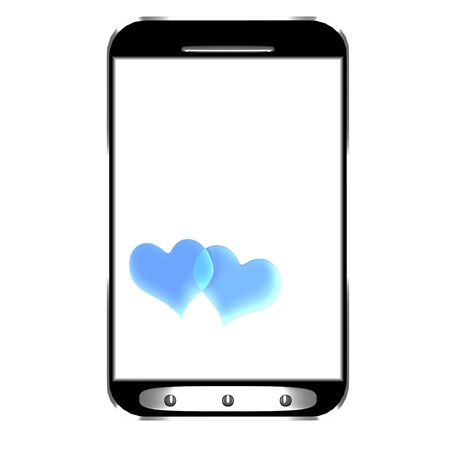 Modern smartphone with blank screen isolated for adv or others purpose use photo