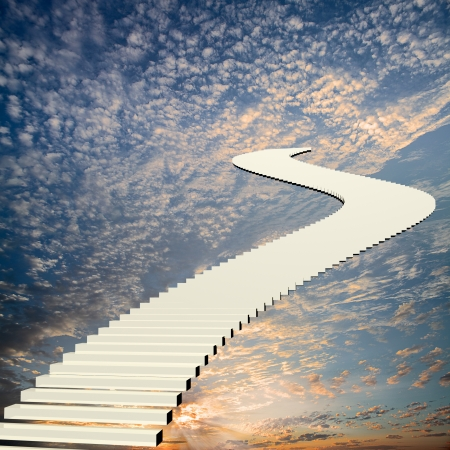 Stairway to the sky for adv or others purpose use photo