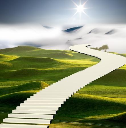 ADV 또는 다른 목적으로 사용하기 위해 하늘의 계단 스톡 콘텐츠