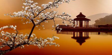zon maan: Sun Moon Lake, Taiwan