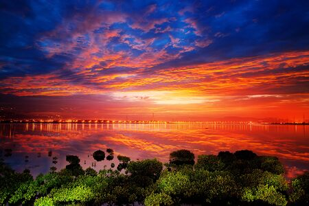 bright sunrise on a river for adv or others purpose use Stock Photo - 17592239