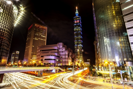 Night view of Taipei 101
