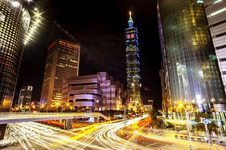 taipei: Night view of Taipei 101