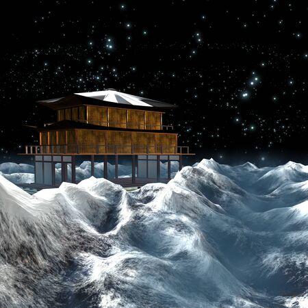 ice mountain: Ice mountain with nice background Stock Photo