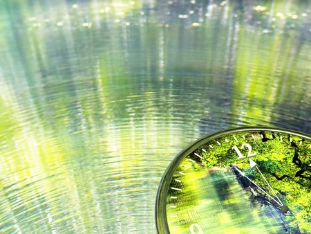 photocell: it s time for green world, for adv or others purpose use Stock Photo