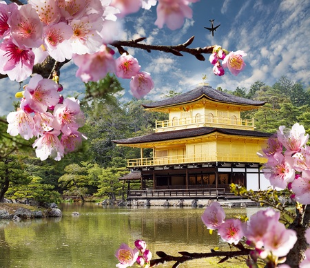 gold temple japan for adv or others purpose use Editorial