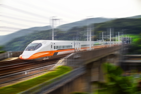modern train speeding with motion blur for adv or others purpose use