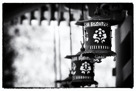Lanterns at temple - Japan for adv or others purpose use photo