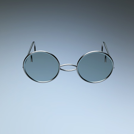bifocals: chrome glasses for adv or others purpose use