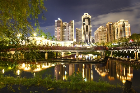 Qiu Valley Ecological Park, Taichun Stock Photo