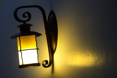Vintage wall lamp for adv or others purpose use Stock Photo - 20015787