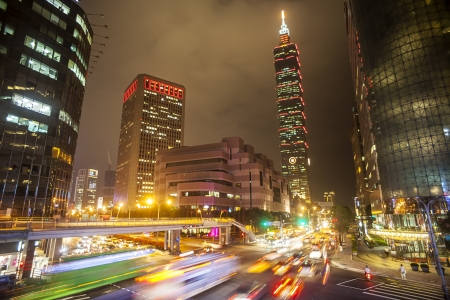 Nice night view of Taipei city, Taiwan for adv or others purpose use
