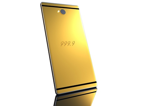 Gold cell phone for adv or others purpose use photo