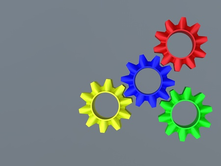 abstract web design with copy space in cog wheel photo