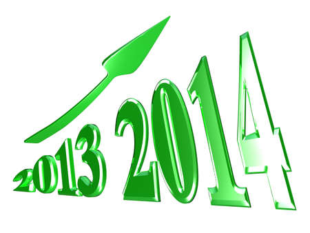 next year: 2014 Stock Photo for adv or others purpose use