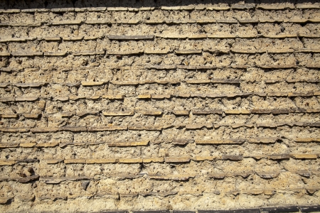 Wall made up of mud-brick and soil instead of cement or mortar Stock Photo - 22275687