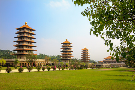 humanistic: Trees District, Kaohsiung Taiwan - November 7  Fo Guang Shan Taiwan s largest Buddhist temple  Buddha Temple is a Mahayana Buddhist temple from the mountains were long Grand Master was founded in 1967 Editorial