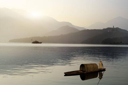 sol luna: Sun Moon Lake en Taiw�n