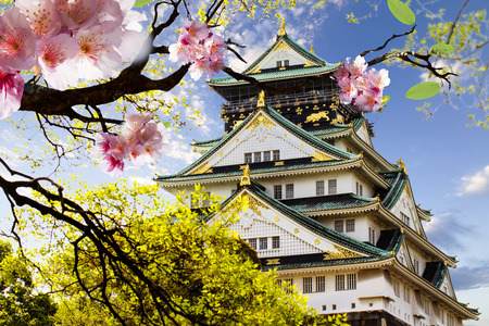 osaka: Osaka Castle in Osaka, Japan for adv or others purpose use Editorial