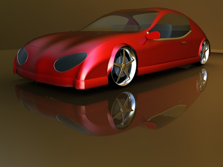 Non-branded generic concept car photo