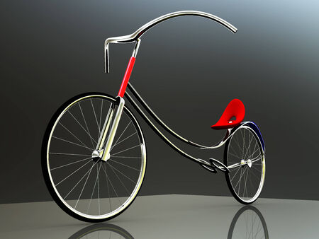 concept of electric bike for adv or others purpose use photo