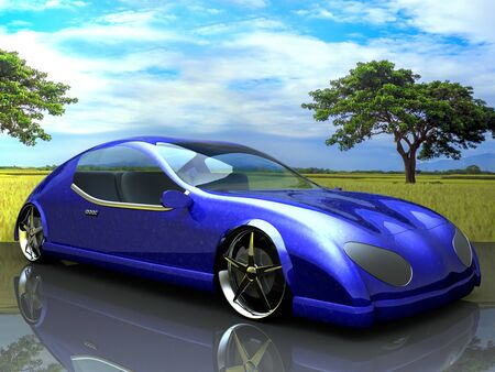 Non-branded generic concept car for adv or others purpose use photo
