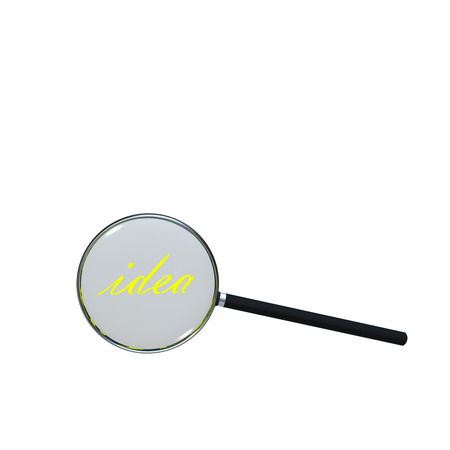 low scale magnification: Magnifying Glass for adv or others purpose use Stock Photo