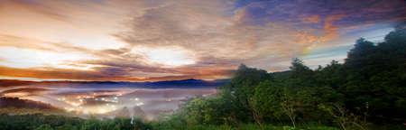 faintly visible: Nice sunrise