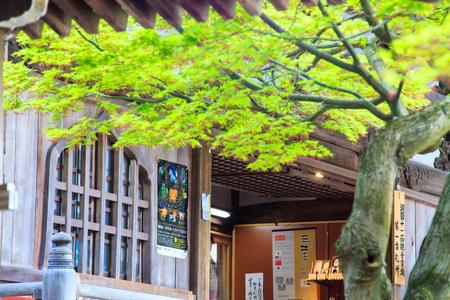 kawaguchi: Kyoto, Japan - April 14, 2013: Sanjeong Temple with nice sakura at spring season Editorial