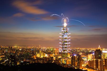 Taipei101 firework show  Editorial