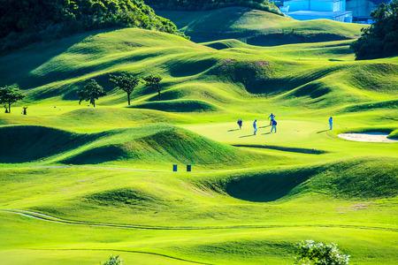 Golf club with nice green  Stock Photo