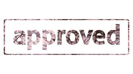 tried:  approved stamp for adv or others purpose use