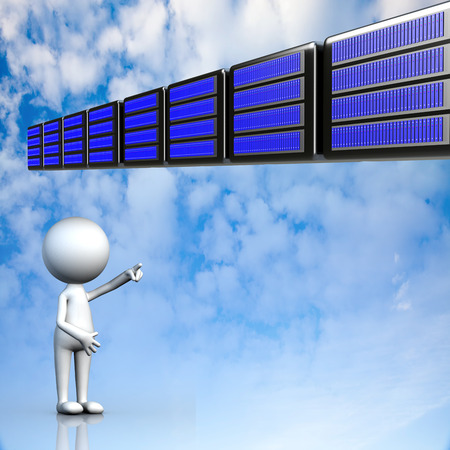 Cloud computing, technology connectivity concept for adv or others purpose use photo