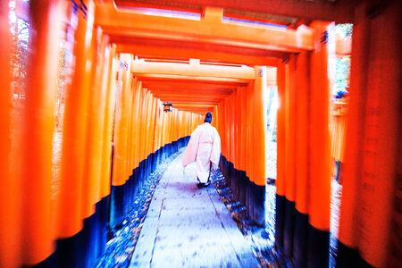 Kyoto, Japan - November 26, 2013: Fushimi Inari Taisha Shrine in Kyoto, Japan