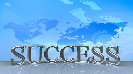 Success in business concept happy for adv or others purpose use photo