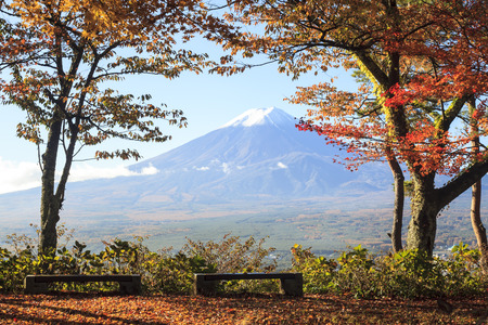 Mt. Fuji with fall colors in Japan for adv or others purpose use photo