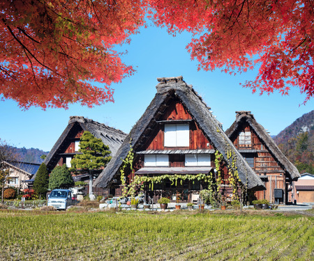 Image of the Historic Villages of Shirakawa-gand Gokayama for adv or others purpose use Editoriali