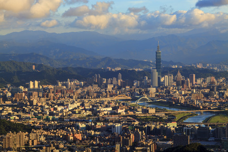 Taipei, Taiwan Cityscape from Neihu District for adv or others purpose use Imagens