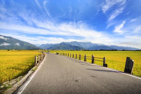 De schoonheid van de landbouwgrond in Taitung Taiwan voor adv of anderen doelgebruik