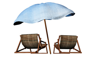 idling: Beach chairs for adv or others purpose use Stock Photo