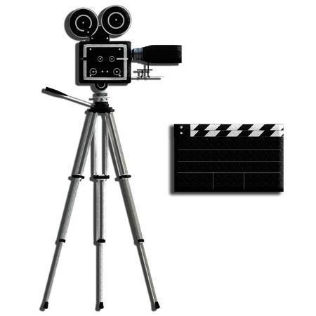 tiny lenses: Camera tripod over white for adv or others purpose use