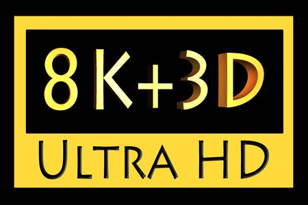 ultra: Super Ultra HD icon isolated on black background