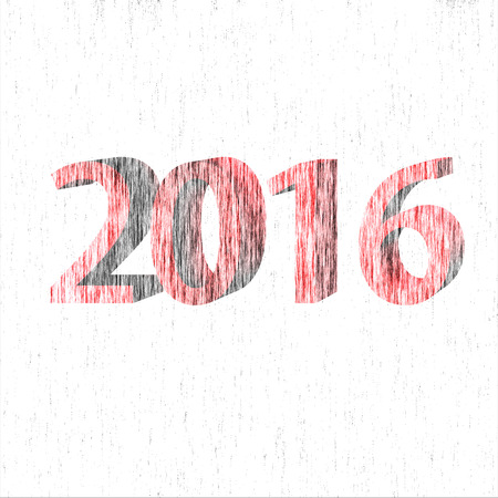 turns of the year: 2015-2016 change represents the new year 2016 with white background