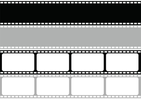 vector film strip multi style illustrator Stock Illustratie