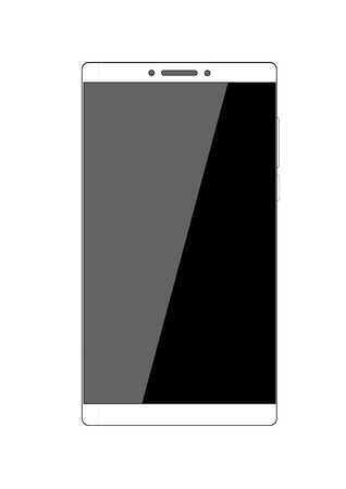 Smart Phone With Blank Screen Isolated illustrator