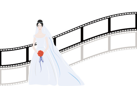 nice background: Beautiful simple bride with nice background Illustration